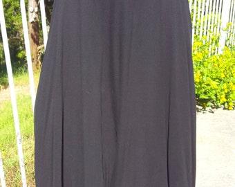 Alex Jones Black 2 Layer Sheer Silk Chiffon Full Circle Skirt