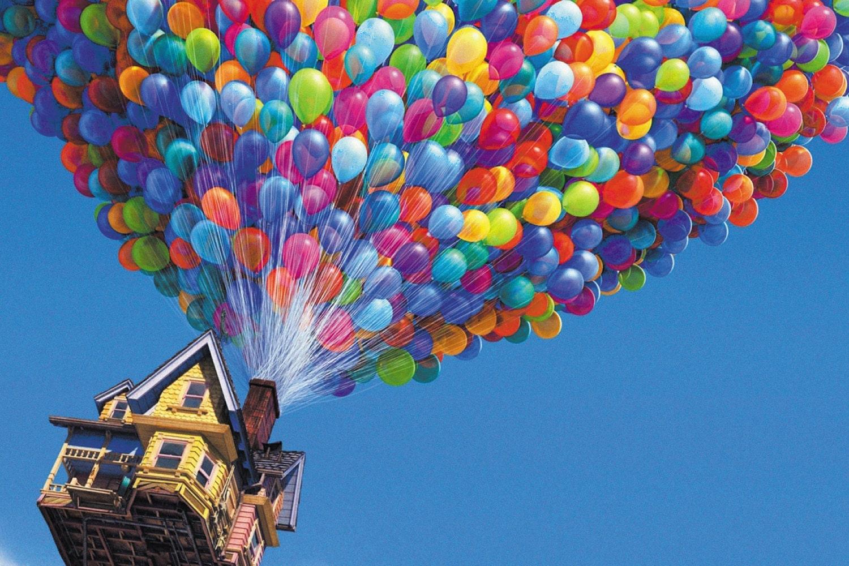 Disney wandbild haus fliegen for Flying haus