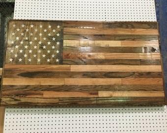 Reclaimed Wood American Flag,Handmade Wood Flag,Rustic Home Decor,Reclaimed Wood,Military Decor,Wood Flag,Great Gift for Dad,Art,USA Décor