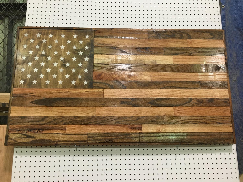 🔎zoom - Reclaimed Wood American FlagHandmade Wood FlagRustic Home