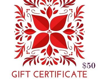 50 Dollar Gift Certificate!