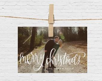 Merry Christmas Photo Card // PRINTABLE
