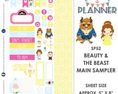 Beauty & the Beast Sampler Kit | Over 30+ Kiss-Cut Stickers | Erin Condren and Mambi  | Disney Inspired   SP52