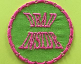Dead Inside Iron On Patch