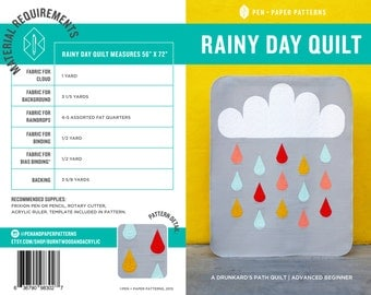 PDF Rainy Day Quilt Pattern