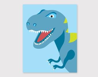 T-Rex, Dinosaur Print, Modern Nursery, Kids Room Art, Nursery Wall Art, Modern Nursery Decor, Baby Gift, Children's Wall Art