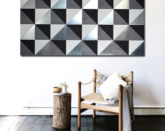Geometric Metal Wall Art metal art wall decor wood wall art decor painting modern
