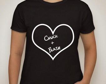 """Gossip Girl """"Chuck + Blair"""" T-Shirt"""