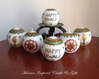Set of 6 DIWALI Candles, Diwali Candles, Indian Festival, Diwali Gift, Diwali Decor, Diwali Decoration, Festival of Lights, Hindu Festivals