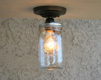 Ball Mason Jar ceiling light, Edison ceiling lighting,Edison mason Jar light,ceiling light