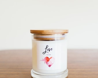 Pure Soy Candle Reiki Charged Love Intention for Ritual