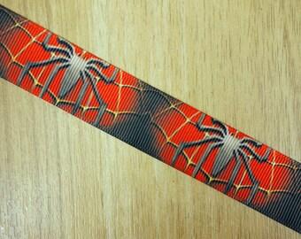 "7/8"" Spiderman Printed Grosgrain Ribbon Bows HairBows Craft Supplies"