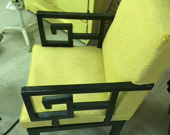 MICHAEL TAYLOR asian line chair for baker furniture, fine condition 1950s