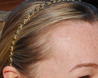 Beaded Headband Gold Headband Gold Hair Chain Alice Band Silver Hairband Black Hair Band Wedding Head Band Hair Accessory Hair Jewelry
