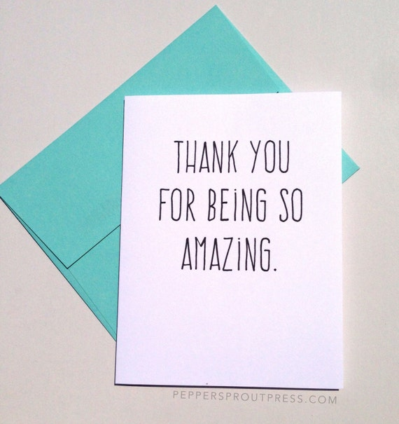 You Re Amazing Thank You: Thank You For Being So Amazing Card