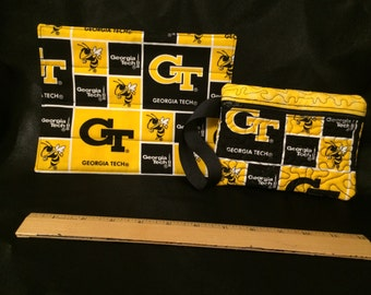 Georgia Tech Wallet and Cosmetic Case