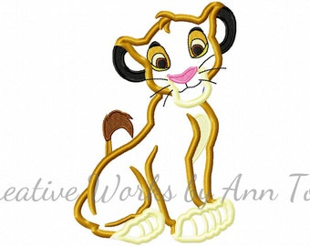 King Lion Symba Applique Design