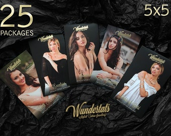 Wundertats Wholesale Package, 5x5 Packages (25x3 sheets) of Metallic Tattoos