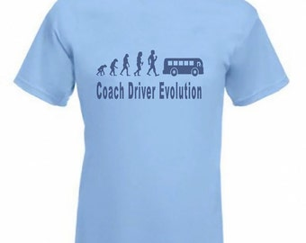 Evolution to Coach Driver t-shirt Funny T-shirt sizes S TO 2XXL