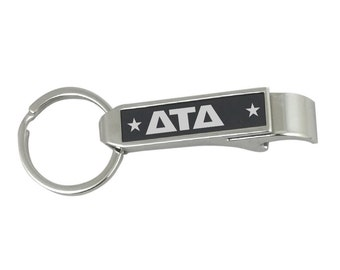 Delta Tau Delta Stainless Steel Bottle Opener Key Chain