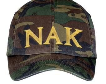 Nu Alpha Kappa Lettered Camouflage Hat