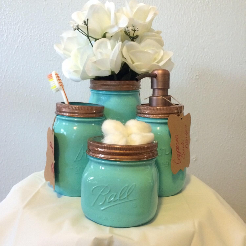4 turquoise jar bathroom sets