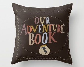 our adventure book.. disney pixar carl and ellie up wedding.. disney throw pillow with insert