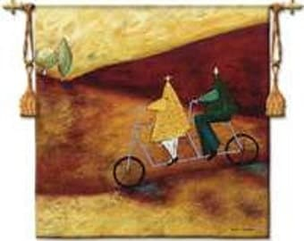 """Rolling Home Together - 53""""x53"""" Tapestry Wall Hanging"""