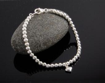 Sterling Silver Ball Bracelet | Sterling Silver Bead Bracelet