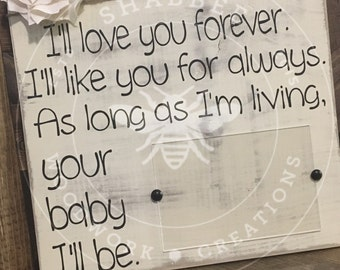 Mothers day picture holder wood sign