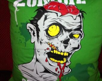 Zombie CUSHION horror punk goth brains