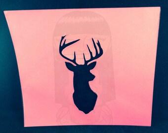 Deer Mount Stencil