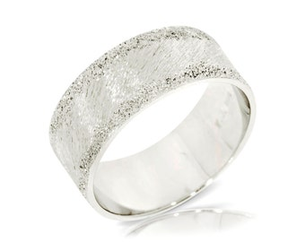 Wedding Band, 14K White Gold Ring Size 7.25 White Gold Band Ring, Wedding Jewelry Gift Anniversary Gift
