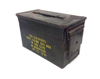 Vintage Military Ammo Box