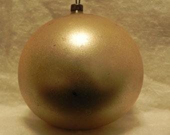 Vintage Gold Glass Christmas Ornament