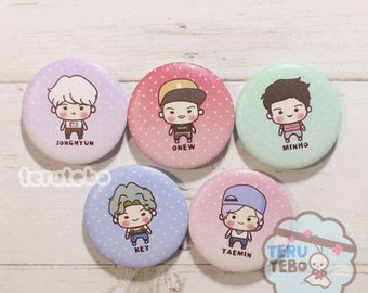 "SHINee kpop pins button 1.73"" VIEW (Full)"