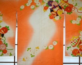 Silk Kimono Furisode / 116