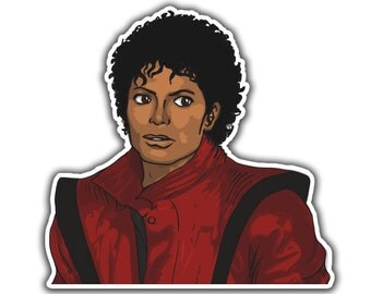 Michael Jackson Sticker - Thriller Hero