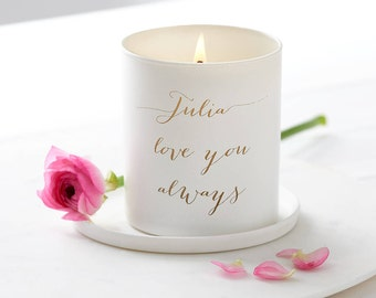 Personalised Glow Through Love You Candle, Candle, White Candle, Love Candle, Engagement Gift, Candle Decor, Scented candle, Gifts for her.