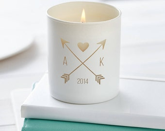 Personalised Glow Through 'You And Me' Candle, Personalised Candle, Date Candle, Scented candle, Wedding Gift, Engagement, Anniversary gift.