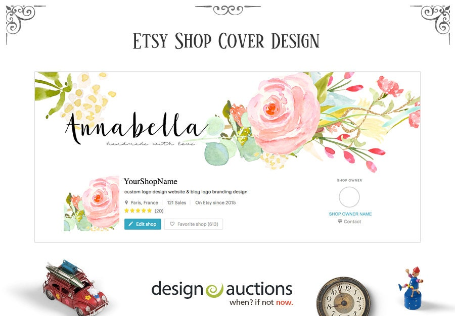 etsy shop logo custom cover photos shop icons by theparisstudio. Black Bedroom Furniture Sets. Home Design Ideas