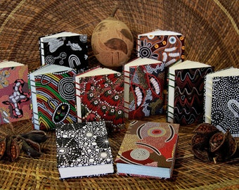 Aboriginal Design (Fabric) Blank Page Journals - Classic