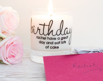 Birthday Gift, Gift For Her, Personalised Candle, Birthday, 30th Birthday Gift, Best Friend Gift, Birthday Present, Scented Candle