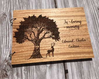 Memorial Guest Book, Funeral Guest Book, Signing Book, Wake Book, Celebration of Life Book, Funeral, Wake - Personalized & Engraved For You!