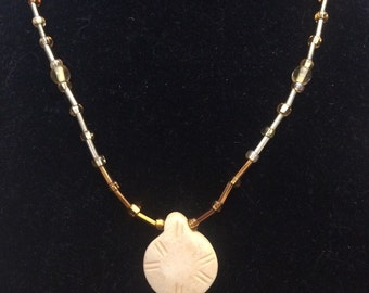 Brown sea shell inspired necklace