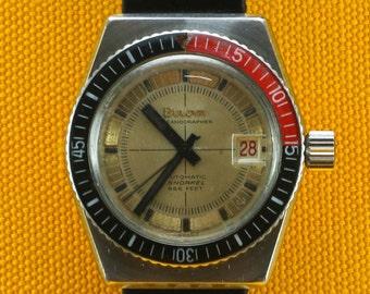 Vintage Bulova Oceanographer 666 Dive Snorkel Watch