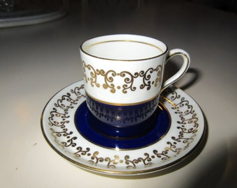 ENGLAND AYNSLEY DEMITASSE Cup and Saucer Set