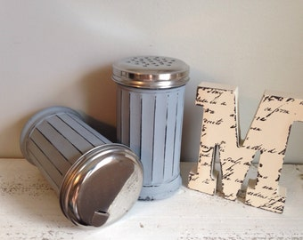 Distressed Shabby Chic Shaker/Dispenser Set- You Choose Color