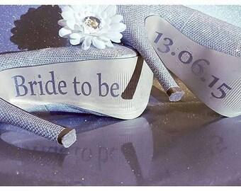 Personalised Wedding shoe decals | shoe decals for wedding | custom shoe decals | Vinyl shoe decals