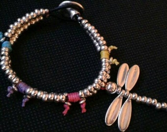 One of 50 style bracelet leather silver Butterfly counts